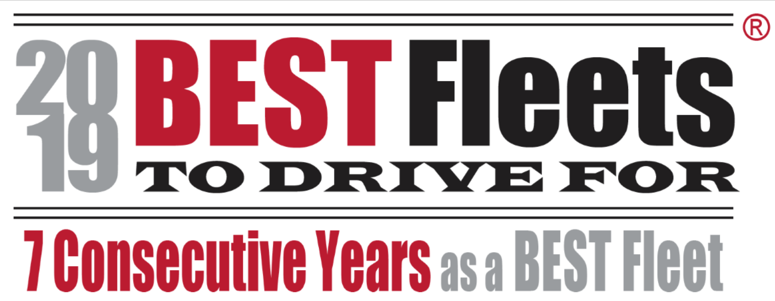 2019 Best Fleets to Drive For Logo for 7 Consecutive Years