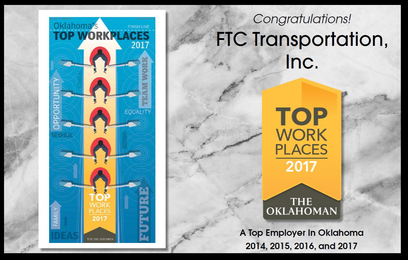 Oklahoma's top Workplaces Graphic