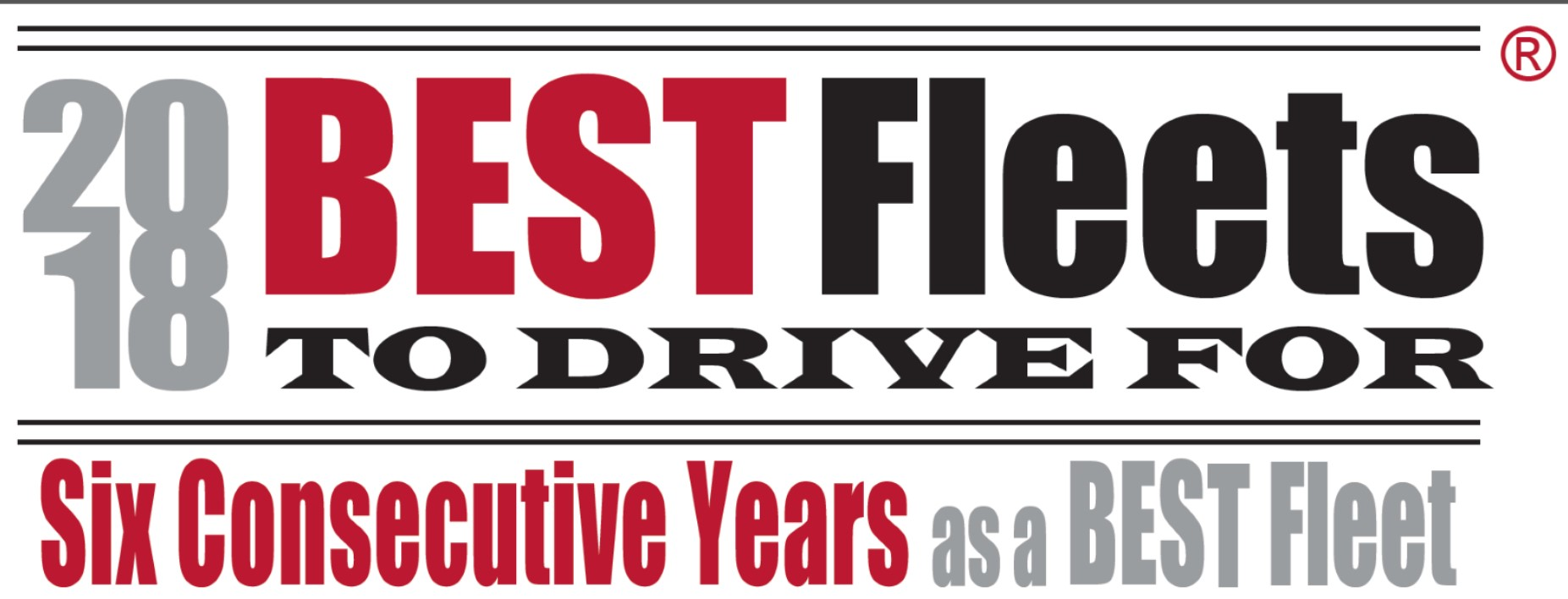 Logo, 2018 Best Fleets to Drive For, 6 Consecutive Years as a Best Fleet